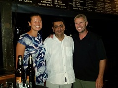 Meeting up with Phiroze to celebrate Colombo's win over Madras; Colombo Rowing Club
