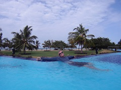 Enjoying our lazy days at The Calm; Passikudah