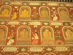 Interior temple paintings; Lankatilaka Vihara