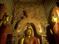 Buddha statues; Lankatilaka Vihara