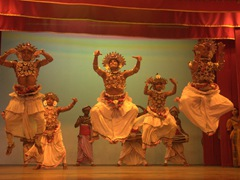Fantastic costumes and performances at the Kandy Lake Club cultural show