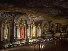 Buddha statues; Dambulla Cave Temple