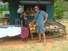 Robby and the coconut seller; Medirigiriya Vatadage