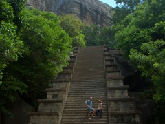The steep staircase leading to the citadel of Yapahuwa, a medieval capital of Sri Lanka