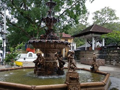 Water fountain outside Kandy's Temple of the Tooth