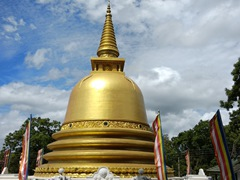 Gold stupa at the Dambulla Golden Temple