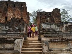 Family photo at the Royal Palace Group; Polonnaruwa