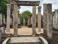 Atadage, a 54 stone pillar house believed to be the only surviving building built by King Vijayabahu I; Sacred Quadrangle