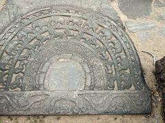 Moonstone carving; Sacred Quadrangle
