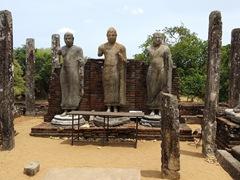 Buddha statues on display at Medirigiriya Vatadage