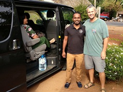 Robby with Ishan, our amazing Sri Lankan driver