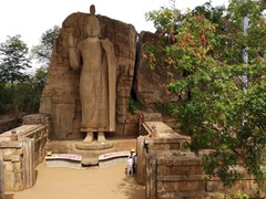 At a height of 11.36 meters, Aukana is the tallest ancient Buddha statue in Sri Lanka