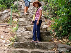 Still plenty more stairs to climb to reach the peak of Yapahuwa