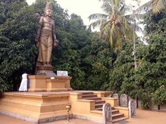 18 foot stone statue of the Bodhisattva Avalokitesvara; Kelaniya Temple