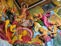 Colorful interior; Gangaramaya Temple