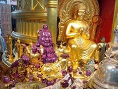 Purple jade Buddha; Gangaramaya Temple