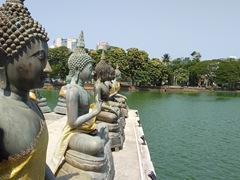 Buddhas overlooking Lake Beira; Colombo