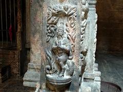 Column carving detail; Shri Ponnambalawaneswaram Kovil