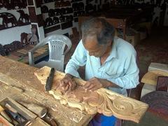Wood carver; Udunuwara