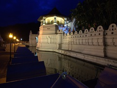 5:30 am view of the Temple of the Tooth, located in the Royal Palace Complex; Kandy