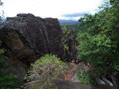 Tucked away on a hill, the Aluvihare Rock Temple dates back to the 3rd Century BC