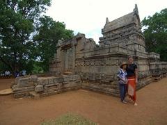 Striking a pose at Nalanda Gedige, an ancient Hindu Temple