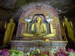 Massive Buddha sculptures; Dambulla