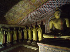 Dambulla Cave Temple is the largest and best preserved cave temple complex in Sri Lanka. We expected massive crowds but were pleasantly surprised during our mid-afternoon visit