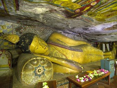Reclining Buddha; Dambulla Cave Temple