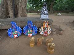 Souvenirs for sale; Polonnaruwa