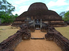 Pabalu Vehera, the 3rd largest dagaba (stupa) in Polonnaruwa