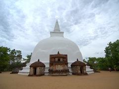 """700 year old Dagaba Kiri Vihara (""""milk white stupa""""); the best preserved unrestored dagaba in Polonnaruwa"""