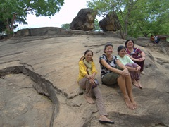 The girls wowed by amazing Gal Vihara
