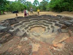 The lotus pond, used by Buddhist pilgrims to bathe on their way to the Tivanka Patamaghara Image House
