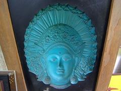 Face mask on display; Gangaramaya Temple