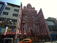 Front facade of Jami Ul-Alfar Mosque (Red Masjid); Colombo