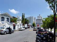 "Street outside the ""Mulee'aage"" (official residence of the President of the Maldives); Malé"