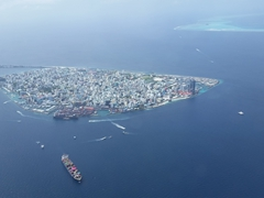Aerial view of Malé, home to over 150,000 people