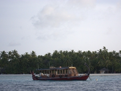 Dhoni anchored near Alimatha Island