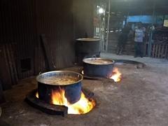 Boiling pots of tuna; Dhiggaru Island