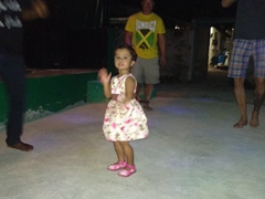 Cute Maldivian girl forces everyone to dance; Fulidhoo Island