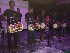 "Locals performing ""bodu bedu"", traditional Maldivian music; Fulidhoo Island"