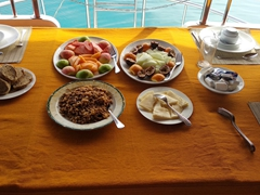 We miss our daily breakfast on board the MY Sheena