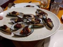 Appetizer of mussels...last dinner on MY Sheena
