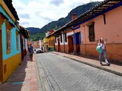 Colorful houses on Carrera 2; La Candelaria (Bogota's colonial era historic district)
