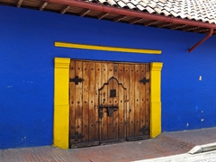 Entrance to an old colonial building; La Candelaria