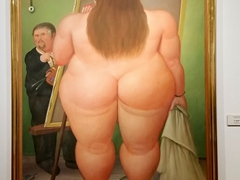 Self portrait of Botero; Botero Museum
