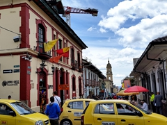 Tourists flock to explore the La Candelaria district