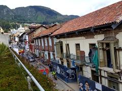View of La Candelaria from Gabriel García Márquez Cultural Center