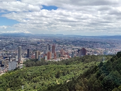 Stunning views of Bogota on the short cable car ride up to Montserrat